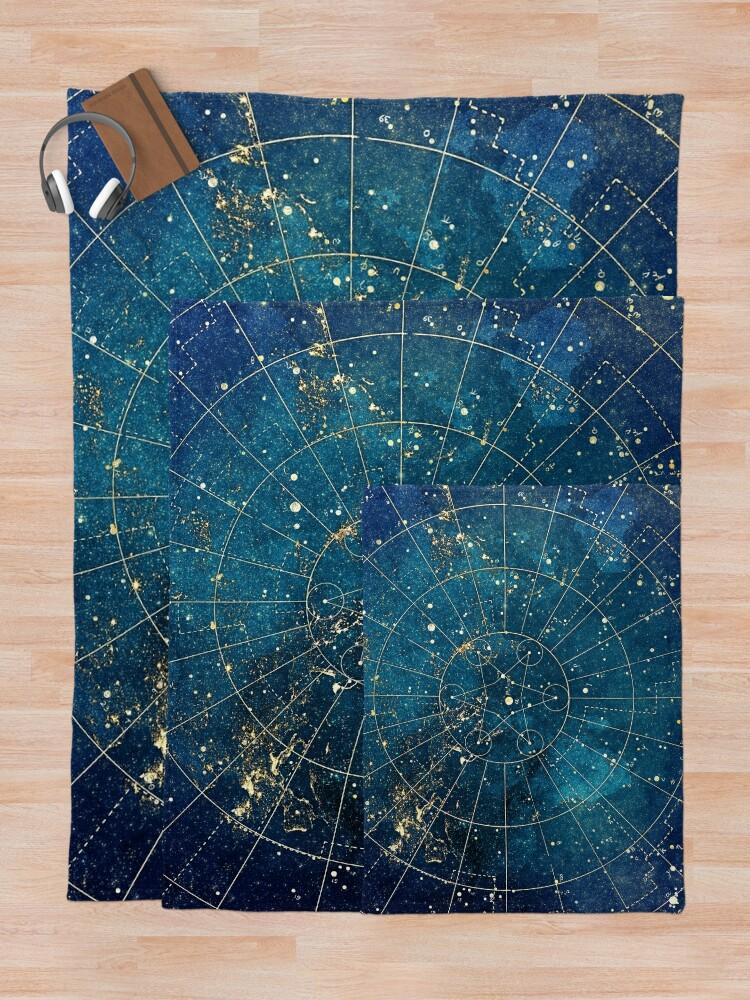 Alternate view of Star Map :: City Lights Throw Blanket