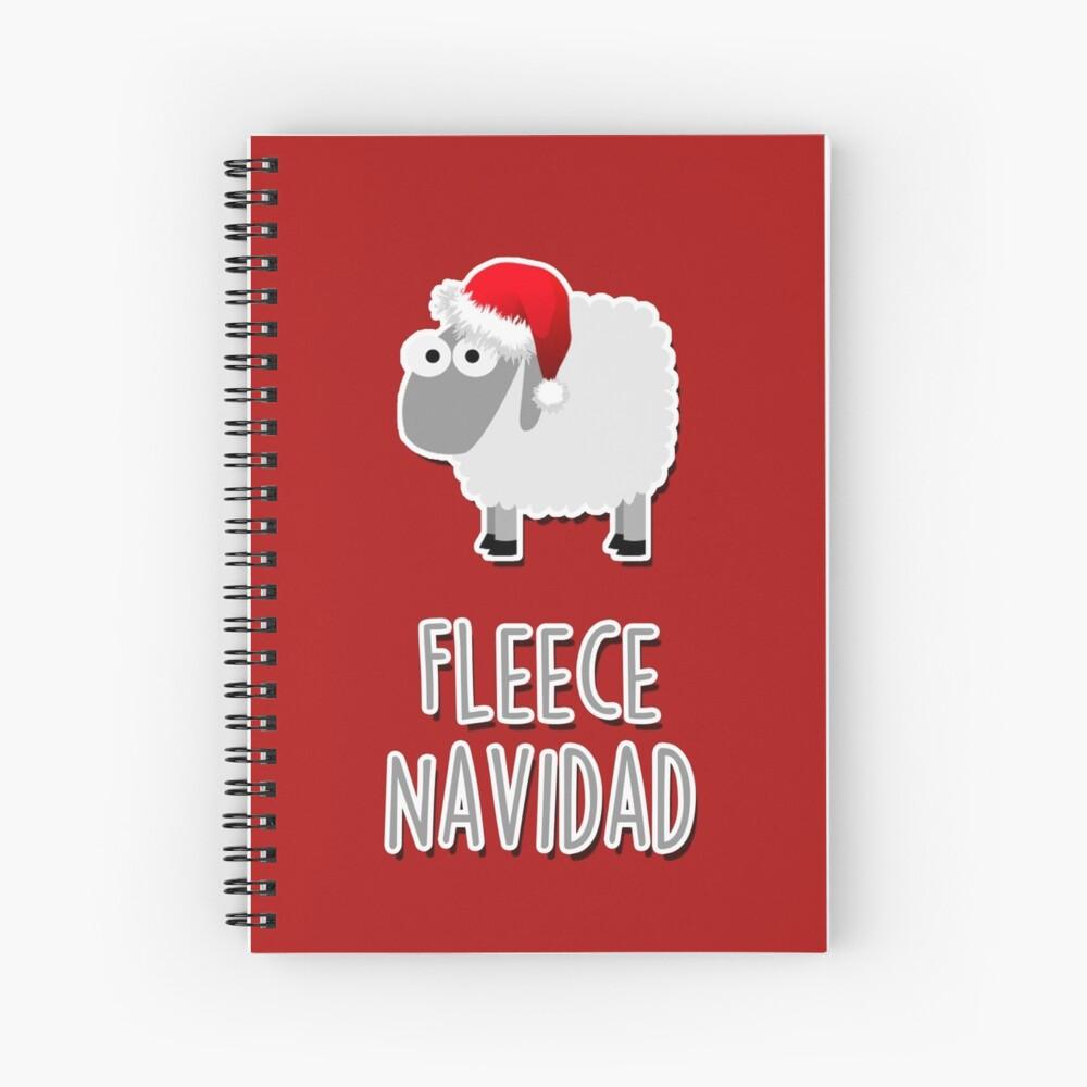 Fleece Navidad Spiral Notebook