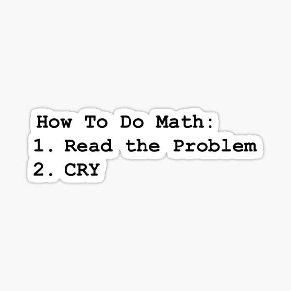 Math Problems Sticker