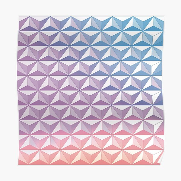Geodesic Sphere, Purple Poster