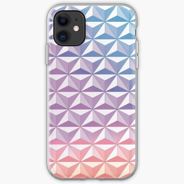 Geodesic Sphere, Purple iPhone Soft Case