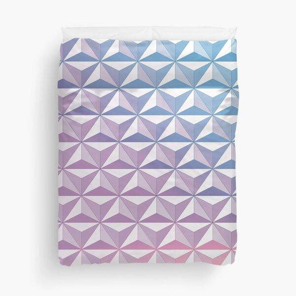 Geodesic Sphere, Purple Duvet Cover