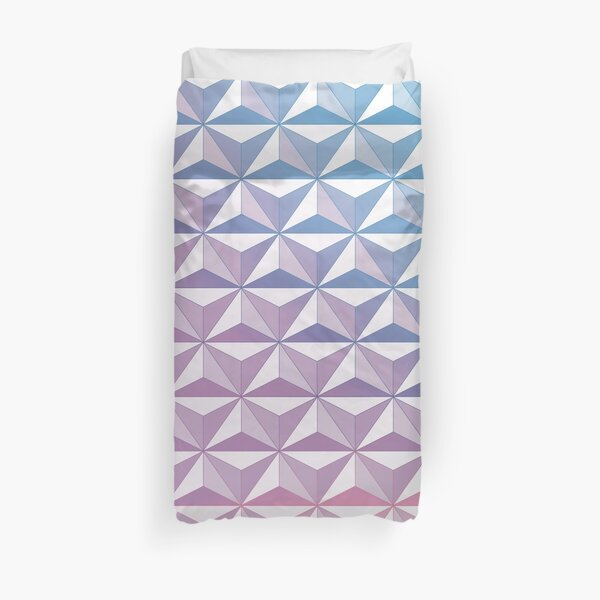 Geodesic Sphere, Purple Duvet Cover