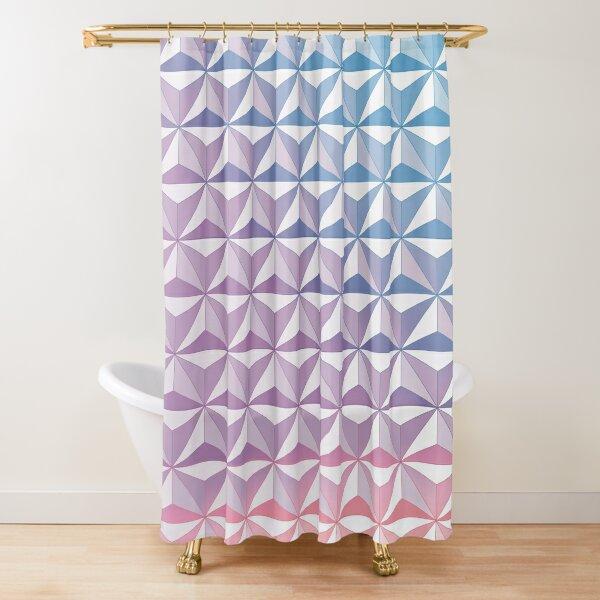 Geodesic Sphere, Purple Shower Curtain