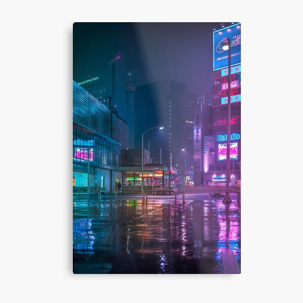 Only the rain Metal Print