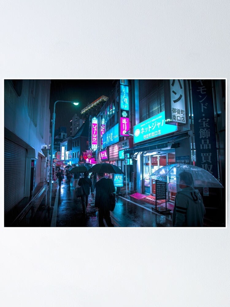 Alternate view of I love Tokyo in the rain Poster
