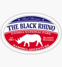 Black Rhino Safari Sticker