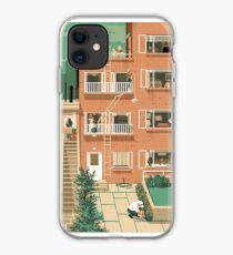 Travel Posters - Hitchcock's Rear Window - Greenwitch Village New York iPhone Case
