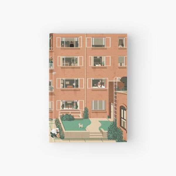 Travel Posters - Hitchcock's Rear Window - Greenwitch Village New York Hardcover Journal