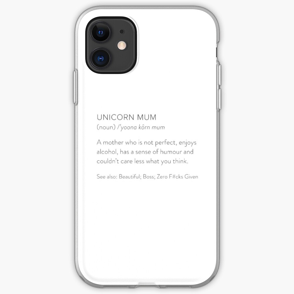 Unicorn Mum iPhone Soft Case