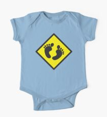 cute warning sign of feet Kids Clothes