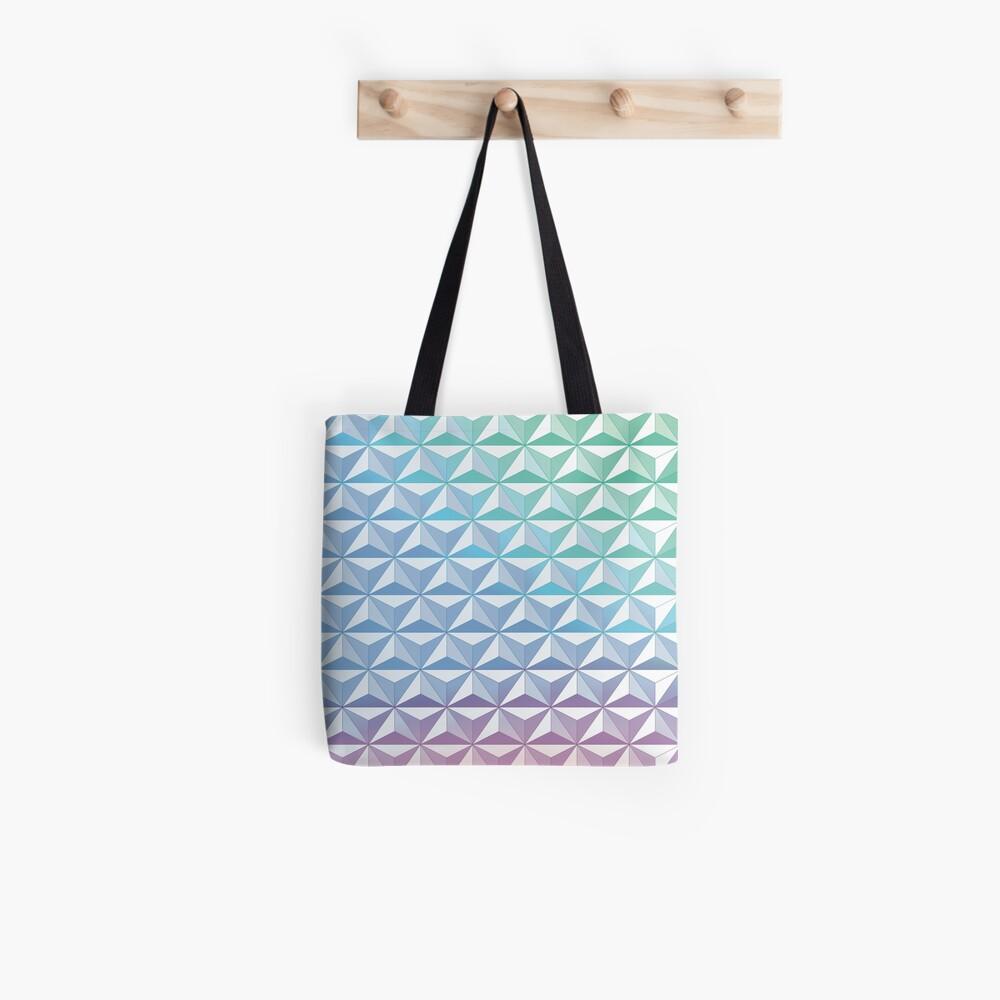 Geodesic Sphere, Blue Tote Bag