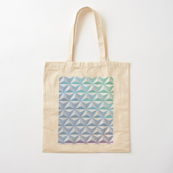 Geodesic Sphere, Blue Cotton Tote Bag