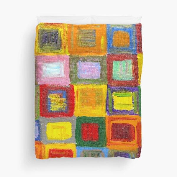Square Dance 1 Duvet Cover