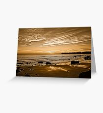 Sunset On The Central Coast OF Calif Greeting Card