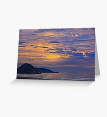 Soft And Beautiful Sunset Greeting Card