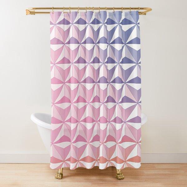 Geodesic Sphere, Pink Shower Curtain