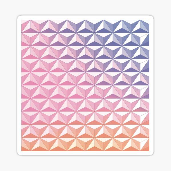Geodesic Sphere, Pink Sticker