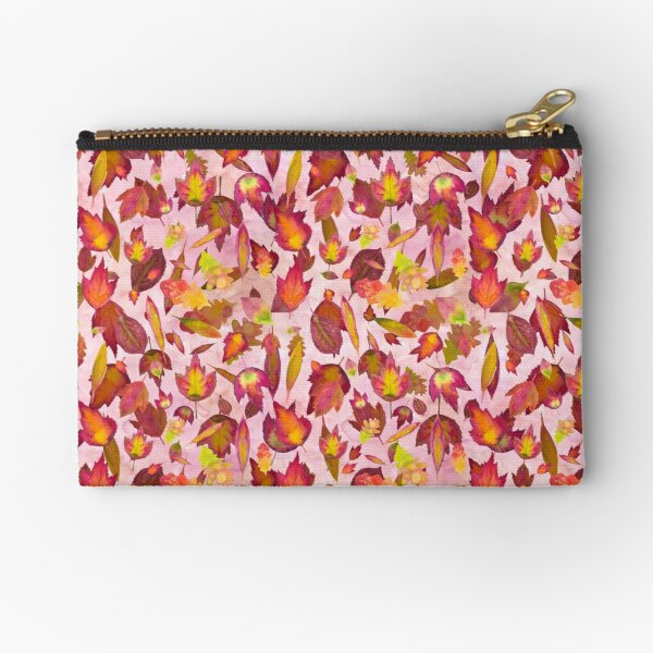 Autumn Leaves Pattern Zipper Pouch