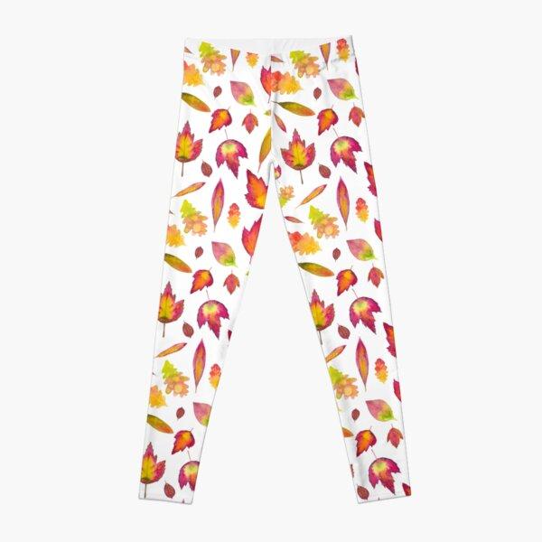 Simple Autumn Leaves Pattern Leggings