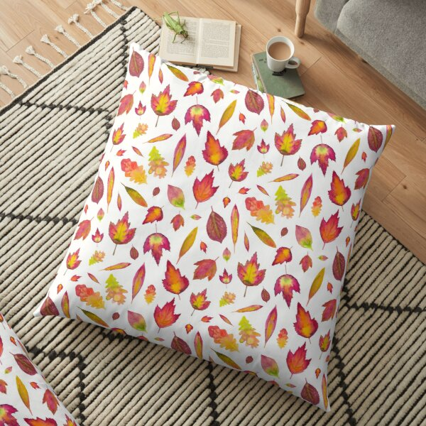 Simple Autumn Leaves Pattern Floor Pillow