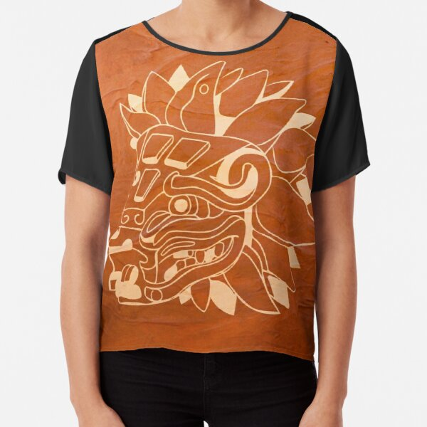 Fly the Friendly Aztec Skies  Chiffon Top