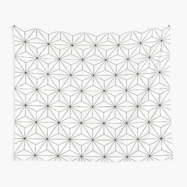 Geodesic Sphere, White Tapestry