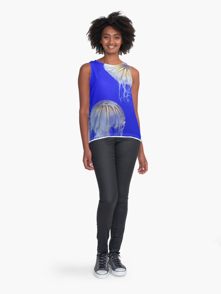 Alternate view of 2 Jellyfish together Sleeveless Top
