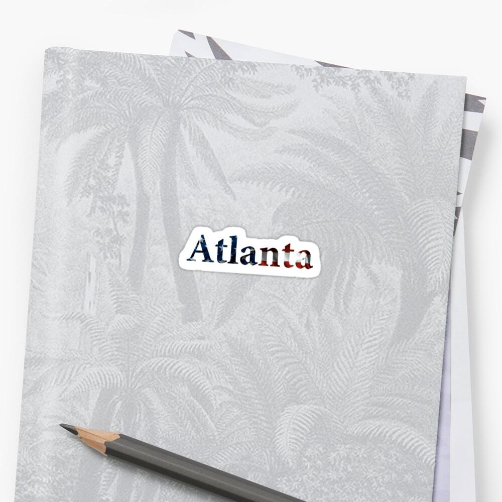 Atlanta American Flag by AdventureFinder