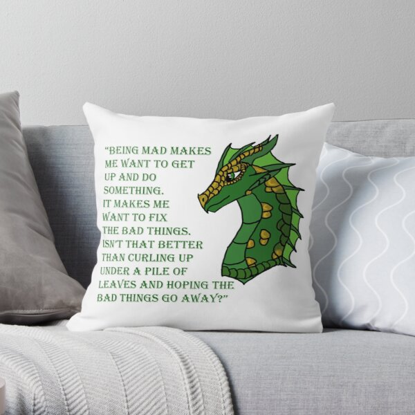 Sundew Quote Throw Pillow
