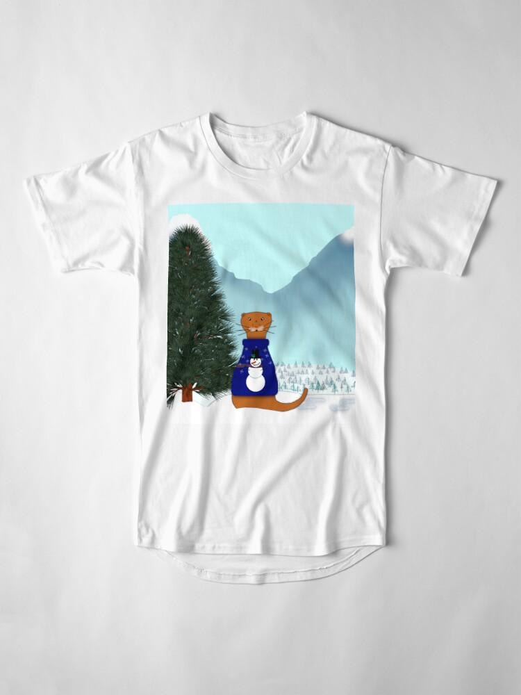 Alternate view of Oliver Finds His Christmas Tree Long T-Shirt