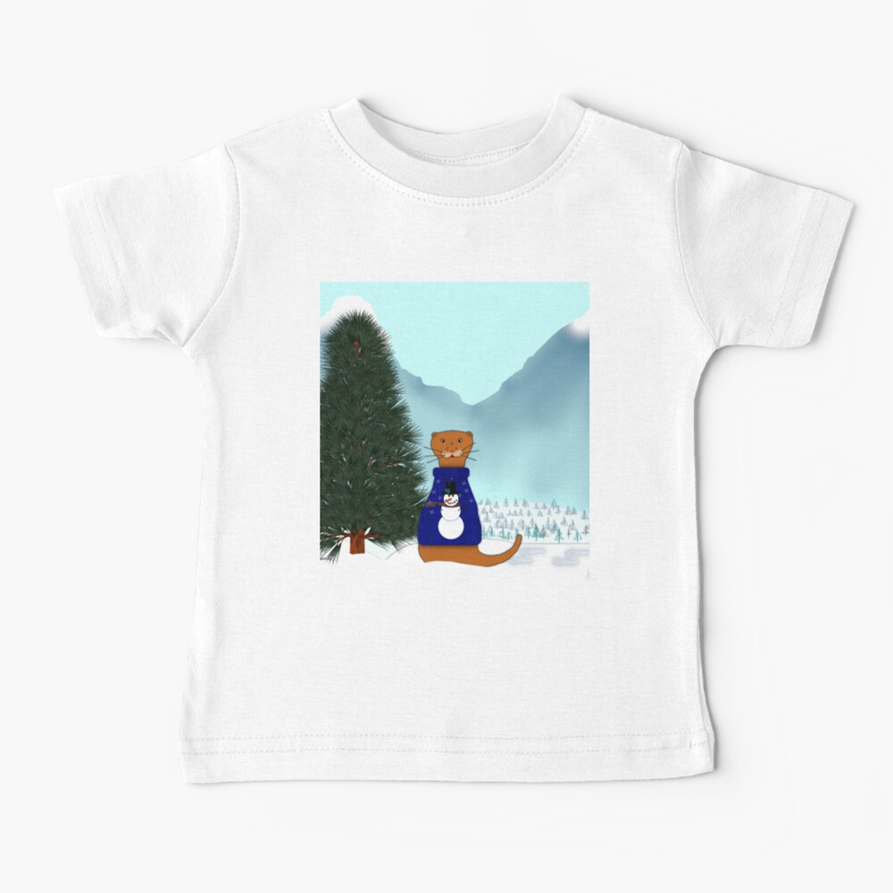 Oliver Finds His Christmas Tree Baby T-Shirt