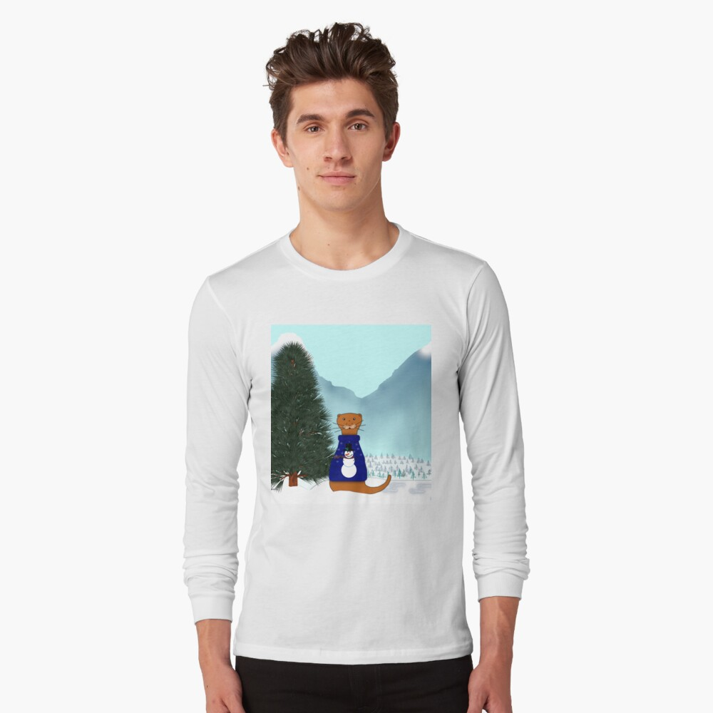 Oliver Finds His Christmas Tree Long Sleeve T-Shirt