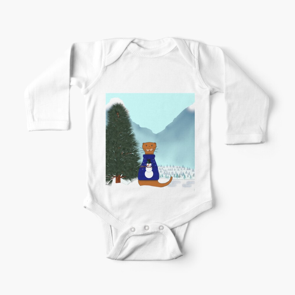 Oliver Finds His Christmas Tree Baby One-Piece