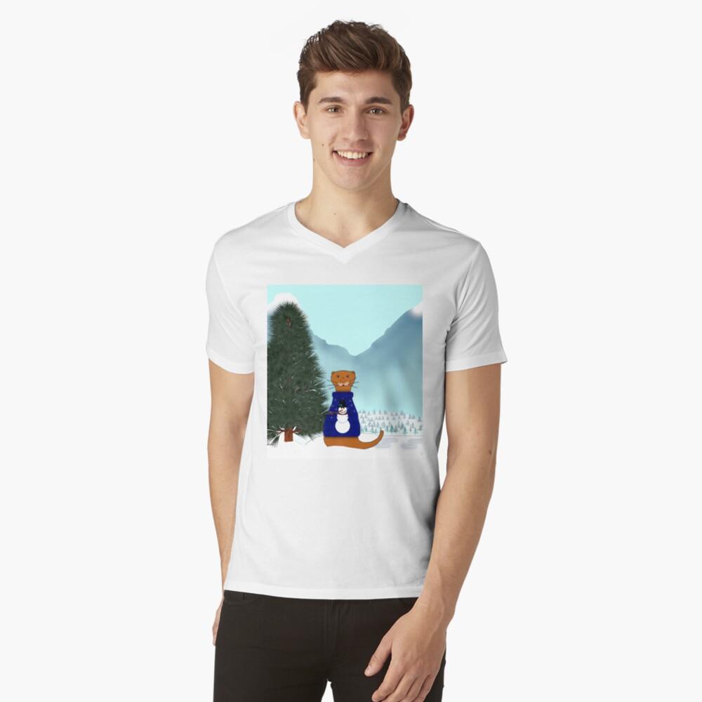 Oliver Finds His Christmas Tree V-Neck T-Shirt