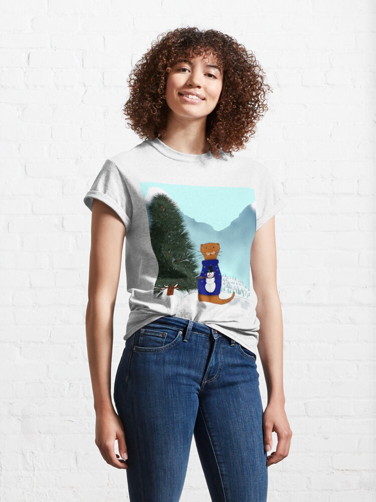 Alternate view of Oliver Finds His Christmas Tree Classic T-Shirt