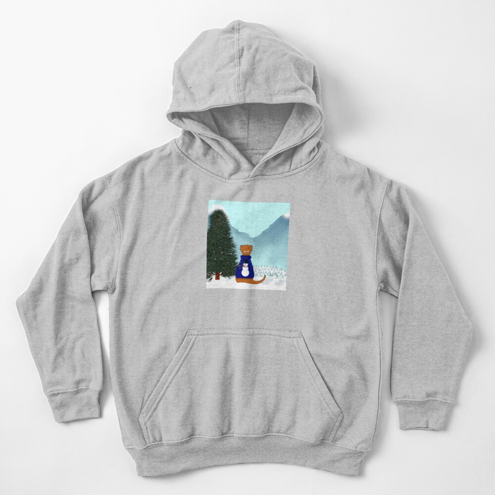 Oliver Finds His Christmas Tree Kids Pullover Hoodie
