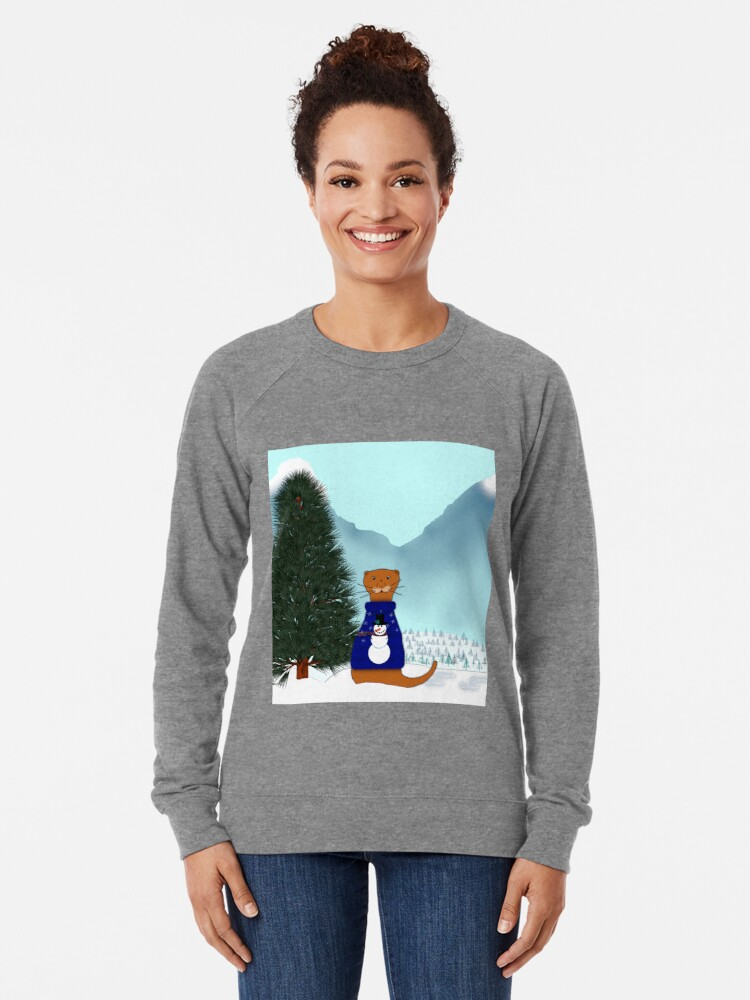 Alternate view of Oliver Finds His Christmas Tree Lightweight Sweatshirt