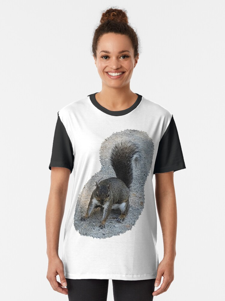 Alternate view of Georgia Squirrel Graphic T-Shirt