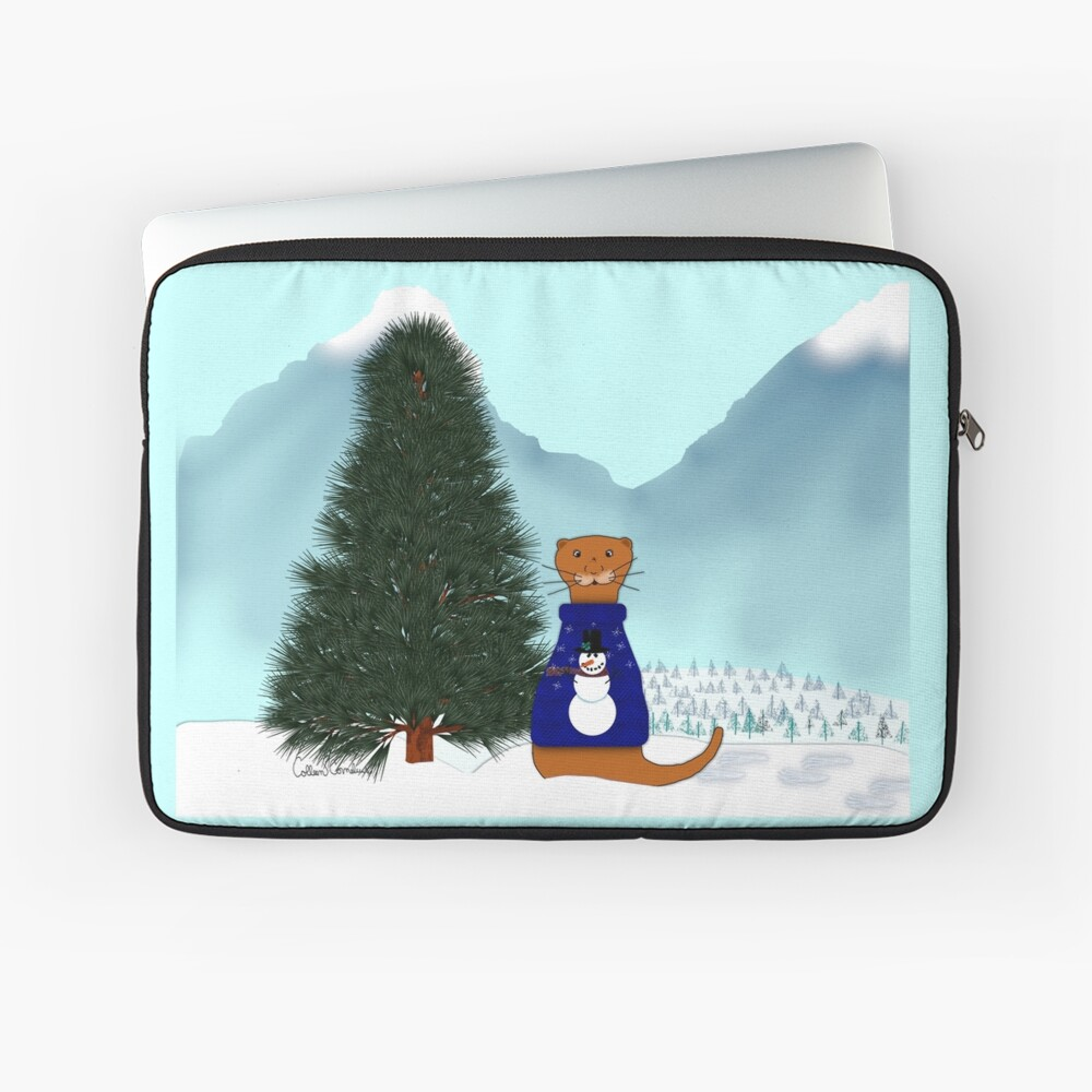 Oliver Finds His Christmas Tree Laptop Sleeve