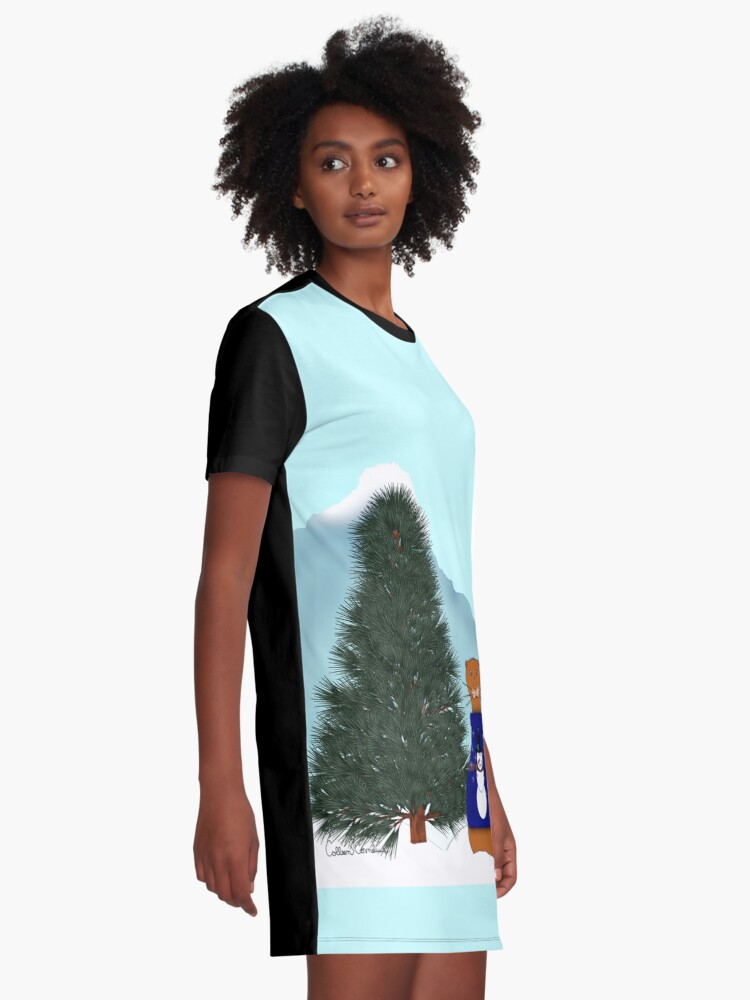 Alternate view of Oliver Finds His Christmas Tree Graphic T-Shirt Dress