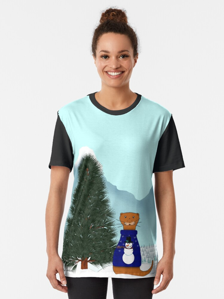Alternate view of Oliver Finds His Christmas Tree Graphic T-Shirt