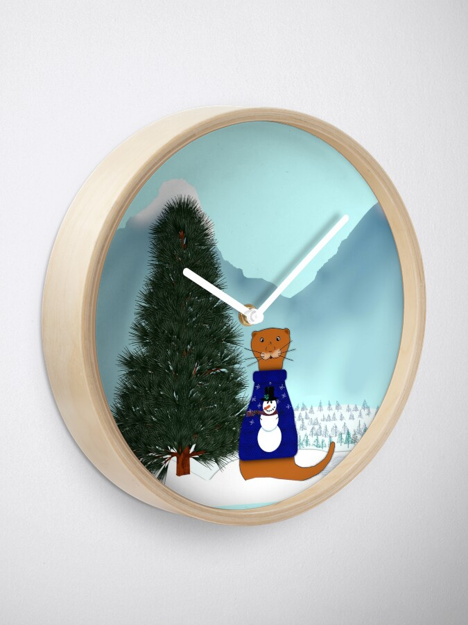 Alternate view of Oliver Finds His Christmas Tree Clock