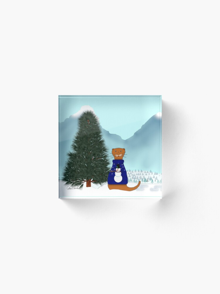 Alternate view of Oliver Finds His Christmas Tree Acrylic Block