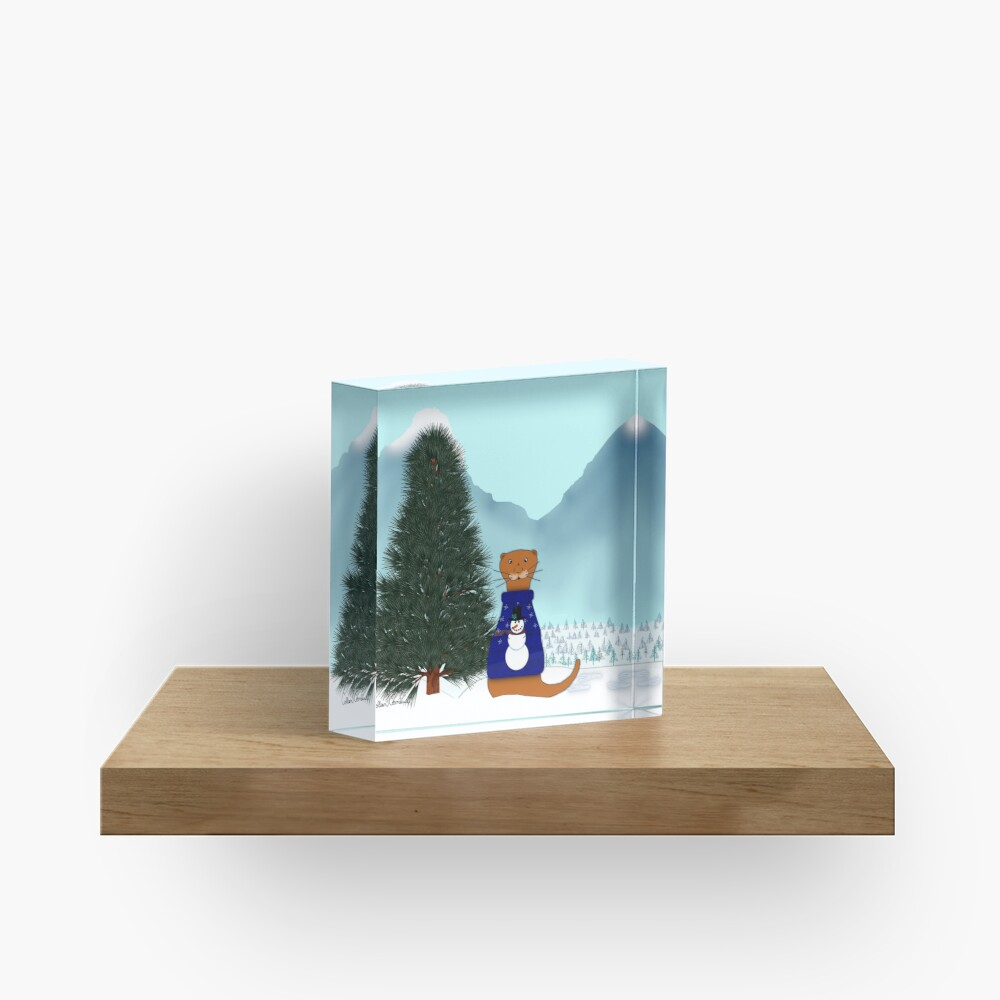 Oliver Finds His Christmas Tree Acrylic Block