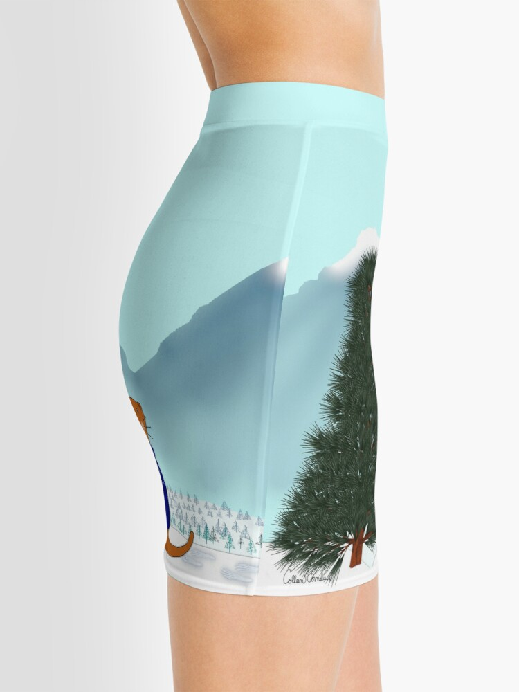 Alternate view of Oliver Finds His Christmas Tree Mini Skirt