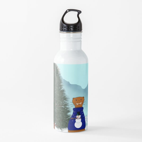 Oliver Finds His Christmas Tree Water Bottle