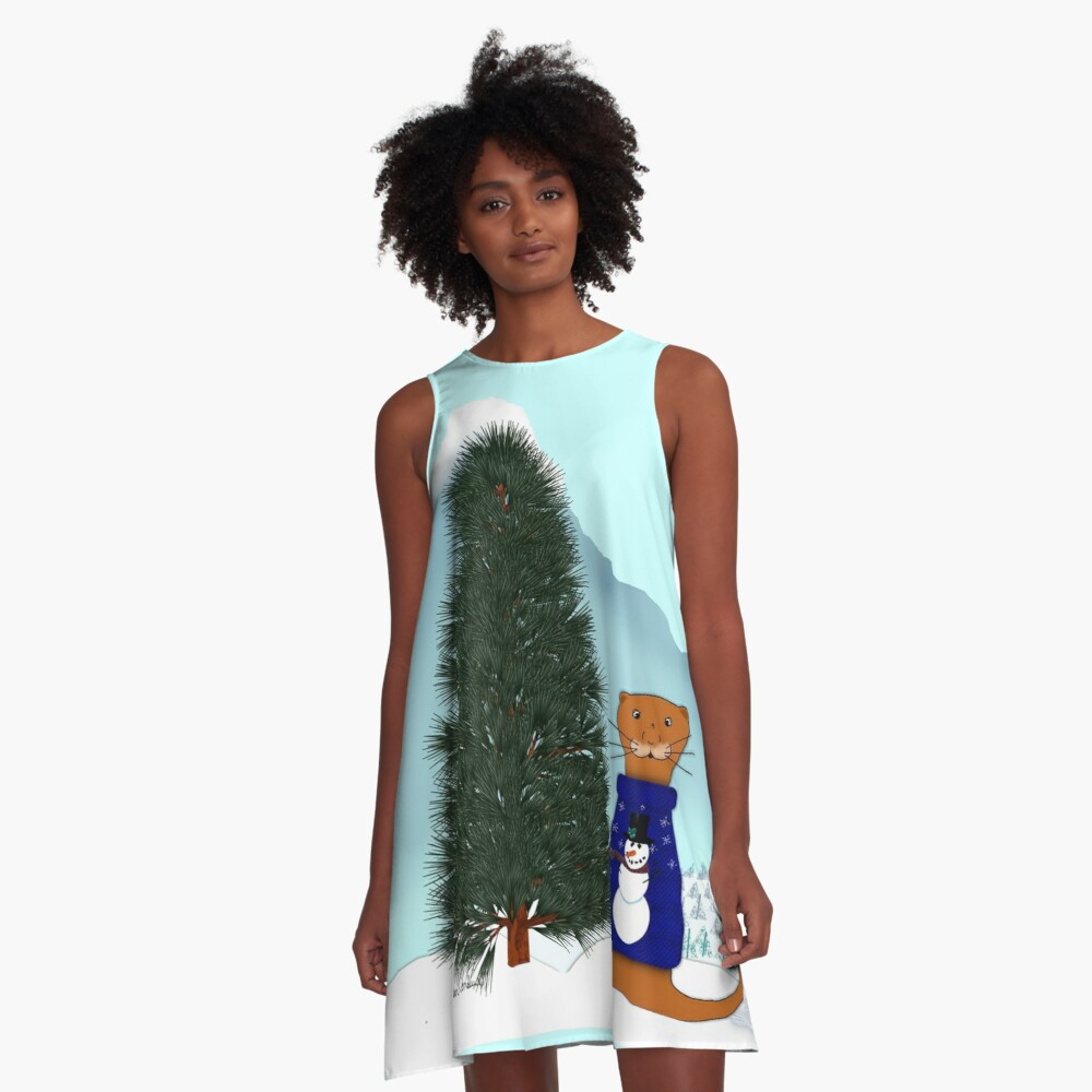 Oliver Finds His Christmas Tree A-Line Dress