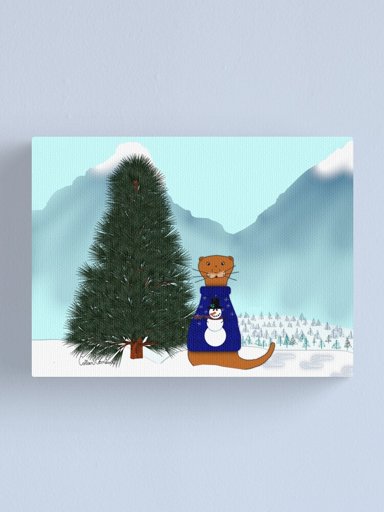 Alternate view of Oliver Finds His Christmas Tree Canvas Print