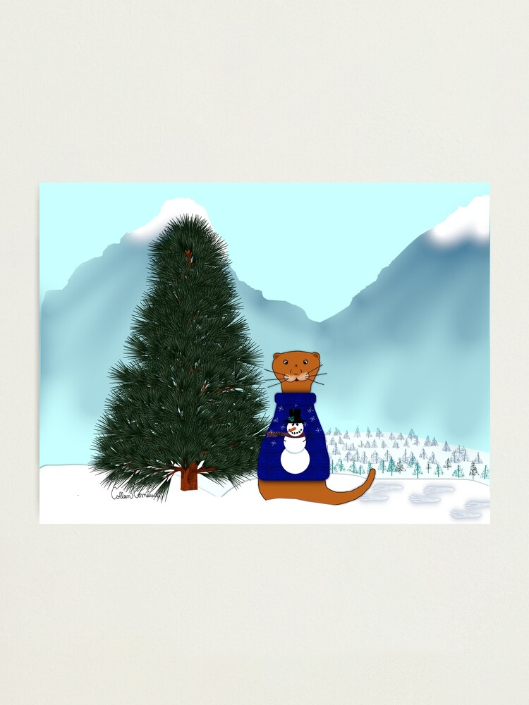 Alternate view of Oliver Finds His Christmas Tree Photographic Print